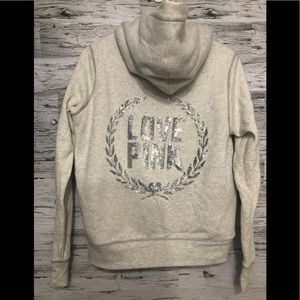 Pink by Victoria's Secret faux fur lined Hoodie